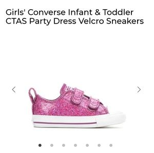 NWT Glittter Converse Hot Pink Girl Shoes